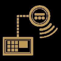 security measures icon bank grade alarm